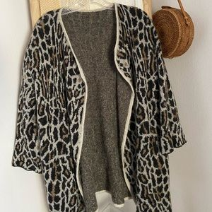 Cheetah Wool Joie Cardigan